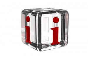 """Glaswürfel mit einem """"i"""""""