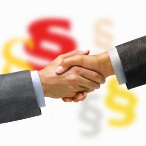 Hände schütteln, Vertrag abschließen